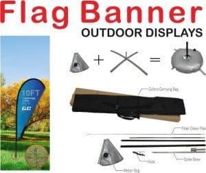 teardrop flag/beach flag