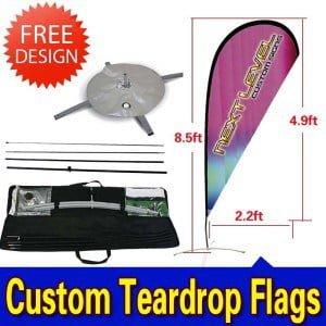 Feather/Beach/Swoop Flags is Printed in Full Color Digital Printing,