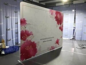 fabric pop up curved display tension fabric printing tension fabbic display