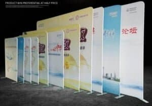 fabric pop up displays for trade shows stretch fabric signage tension fabbic display
