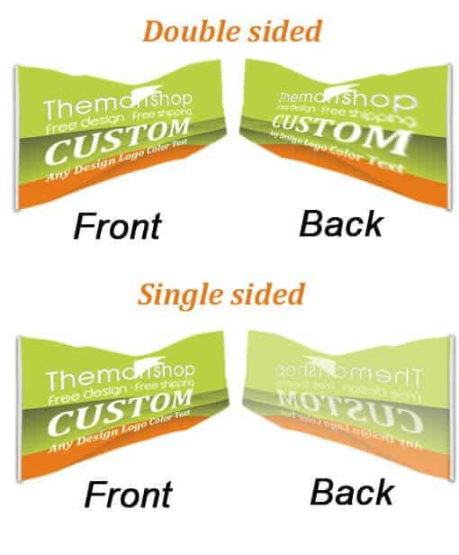how to make outdoor or indoor free shipping custom advertising flag
