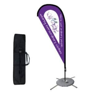 custom flag and pole teardrop flags