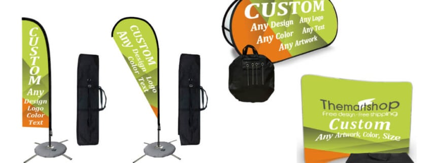 feather flags teardrop flags pop up banner trade display